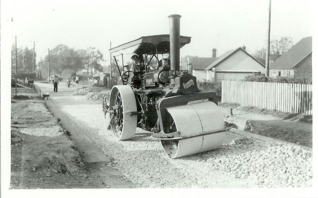 Busy Bee rolling the Bridle Path. On the left hand side is where Co-Op is now located.