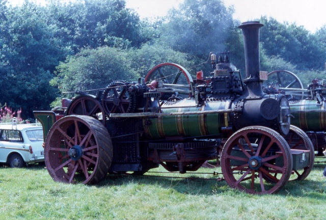 "Fowler Ploughing Engine No. 1368 ""Margaret"" at Knowl Hill rally when in the ownership of Bill Thame"