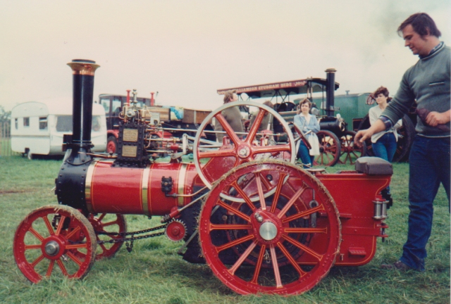 "Nigel Greenaway with the families half size Burrell Traction Engine ""Little George"""