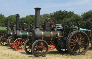 Burrell Traction Engine no. 2426 at Woodcote Rally in 2012